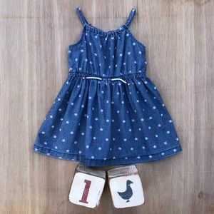 Carters Spaghetti Strap Chambray Star Dress 24mos